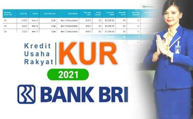 Tabel Brosur Pinjaman & Angsuran Kredit Bank BRI Tenor Cicilan 12,18,24,36 Bulan