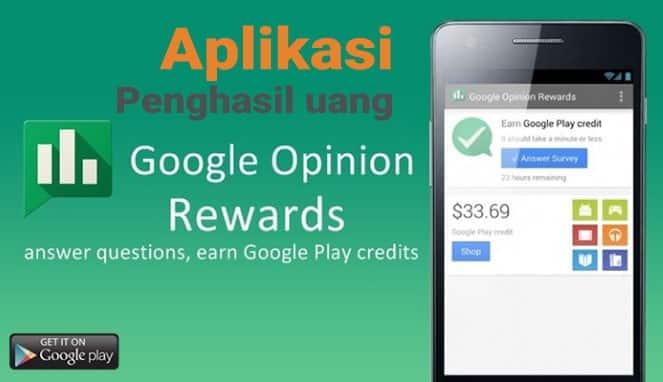 aplikasi penghasil uang google oppinion rewards