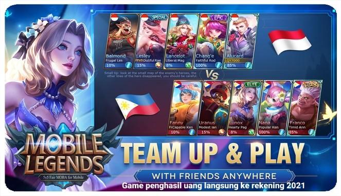 aplikasi yang menghasilkan uang - game mobile legends bang bang