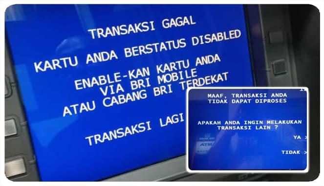 kartu atm bri disable