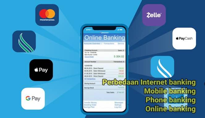 perbedaan mobile, phone, internet pada fasilitas online banking