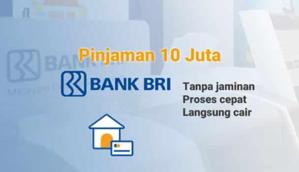 Pinjam Uang 10 Juta di Bank BRI Tanpa Jaminan Secara ...